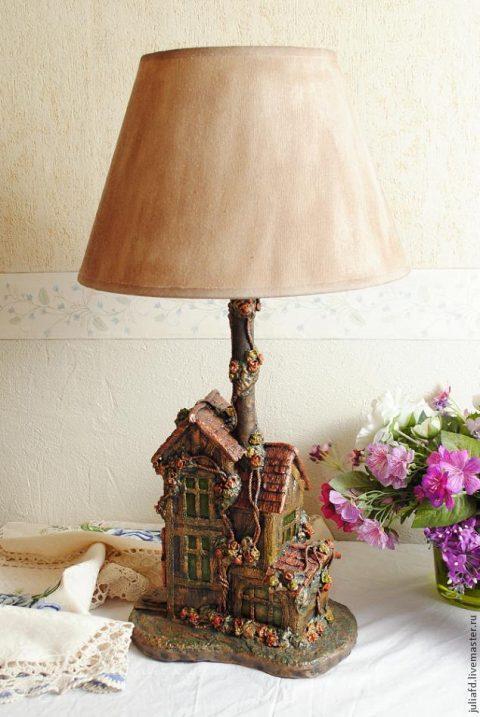 Светильник с домиком своими руками
