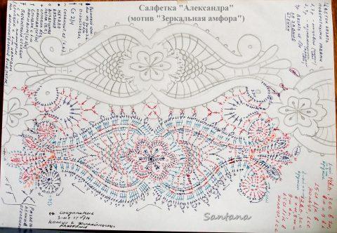 Схемы вязания салфетки Александра