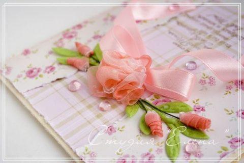 Роза из ленты органзы своими руками