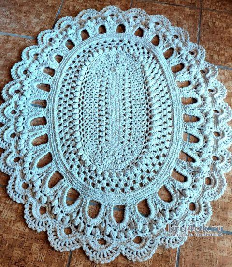 Ажурный ковер крючком. Работа Елены Шевчук вязание и схемы вязания