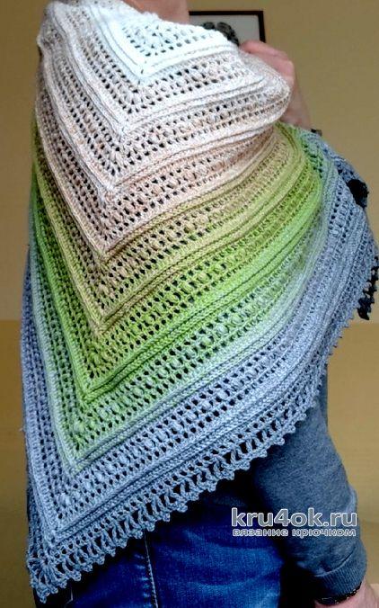 Бактус крючком из пряжи Yarnart Flowers. Работа Елены Шевчук вязание и схемы вязания