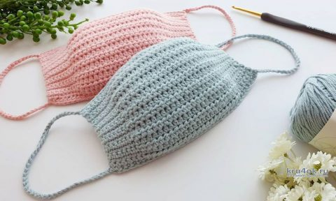 Декоративная маска для лица, связанная крючком. Работа Alise Crochet вязание и схемы вязания