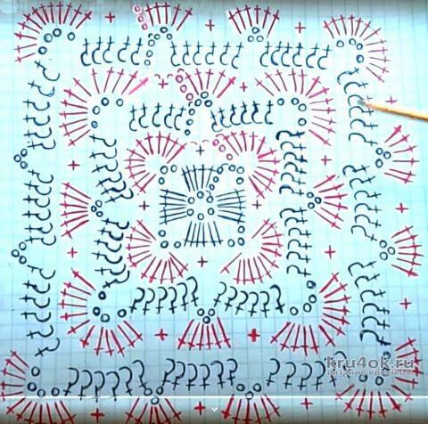 Наволочка для подушки крючком. Работа Юлии вязание и схемы вязания