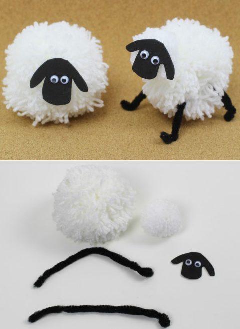 детские игрушки из помпонов