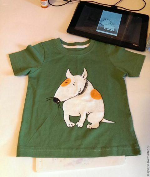 Как за час превратить пятно на старой футболке в собаку
