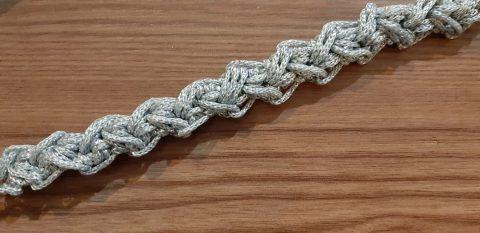 ручка для сумки крючком жгут - колосок