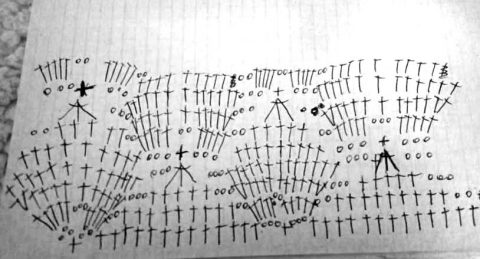 схема вязания летнего джемпера крючком