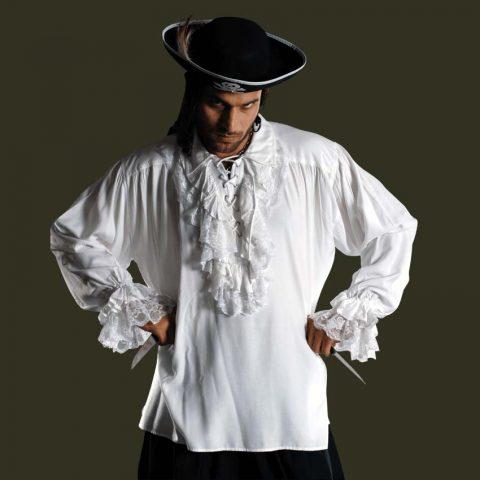 жабо как часть одежды пиратов