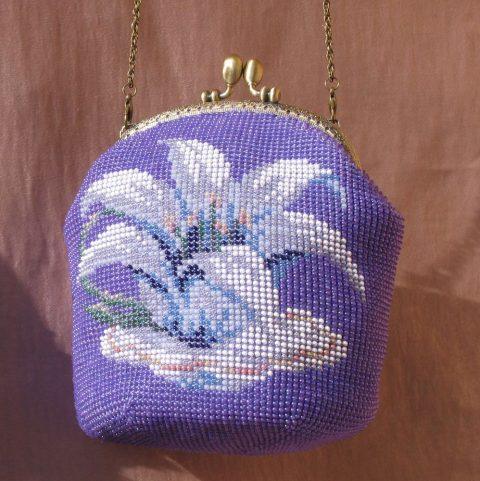 Вяжем сумочку с бисером