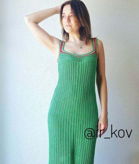 Платье Amore, связанное крючком для женщин