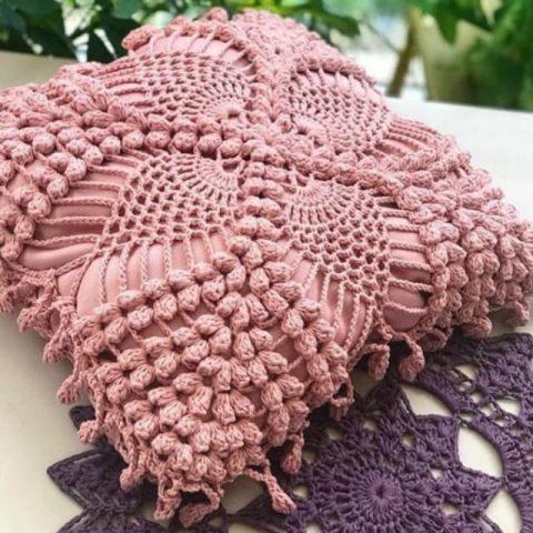 Чехол для подушки своими руками, идеи и схемы вязания