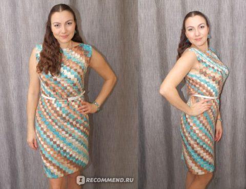 Платье связанное крючком изAlize Diva Batik