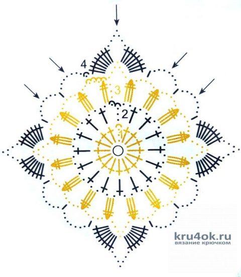 Ажурный кардиган молочного цвета. Работа Надежды Борисовой вязание и схемы вязания