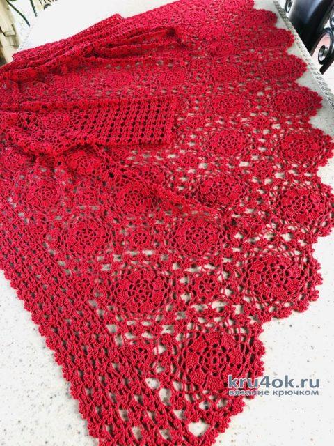 Красивый ажурный кардиган крючком. Работа Надежды Борисовой вязание и схемы вязания