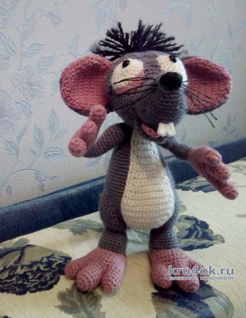 Крысеныш Бася - вязанная крючком игрушка. Работа Ольги вязание и схемы вязания