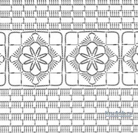 Летний топ, связанный крючком. Работа Петровой Виктории вязание и схемы вязания