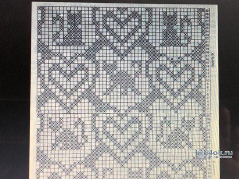 Оригинальная цветная салфетка Люблю кошек. Работа Надежды Борисовой вязание и схемы вязания