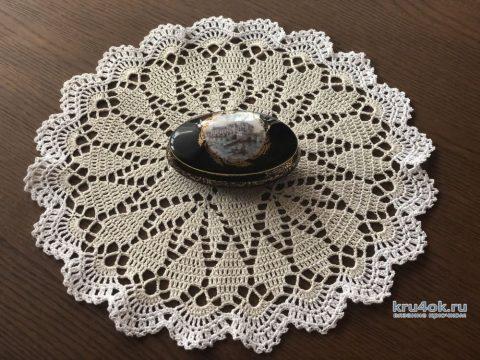 Оригинальная салфетка Звездочка, связанная крючком. Работа Надежды Борисовой вязание и схемы вязания