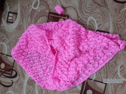 Женская шаль, связанная крючком. Работа Альбины Ваниной вязание и схемы вязания