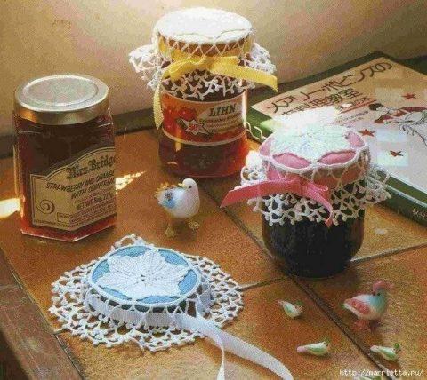 Салфетки для украшения баночек с вареньем и соленьями 5
