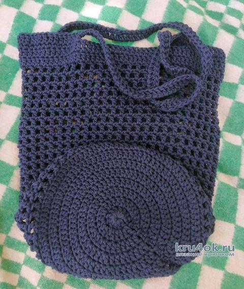 Авоська крючком. Работа Риты вязание и схемы вязания