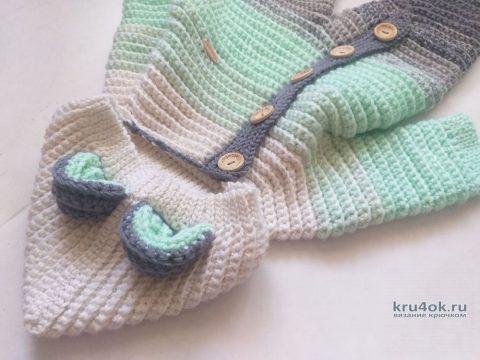 Детский комбинезон крючком. Работа Надежды Юсуповой вязание и схемы вязания