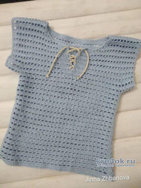Вязанная крючком футболка для мальчика. Работа Анюты вязание и схемы вязания