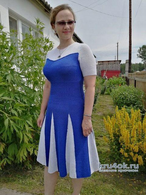 Вязаное платье. Работа Таисии