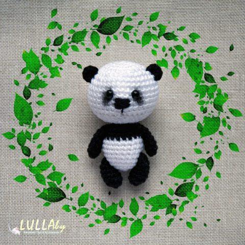 Как связать крючком малыша панды