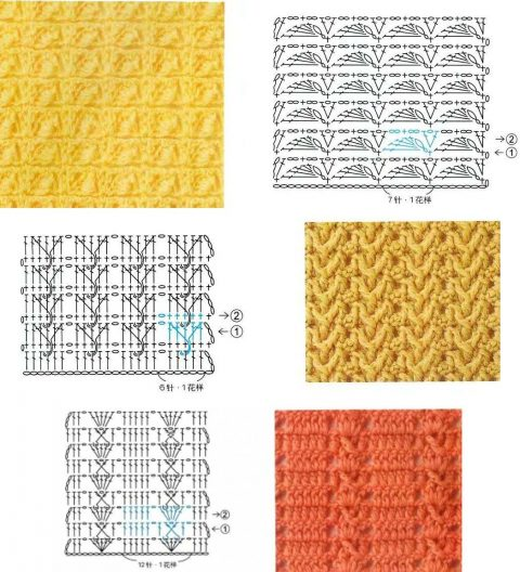 классные схемы вязания плотных узоров крючком