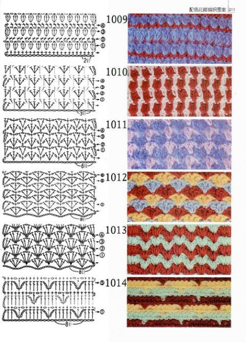схемы вязания плотных узоров крючком