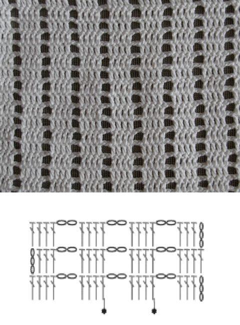 Универсальный простой узор крючком
