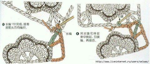 Способы соединения мотивов крючком 15
