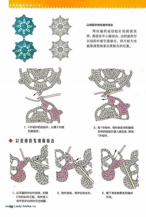 35 способов соединения мотивов иглой и крючком