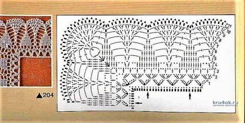 схема вязания каймы крючком