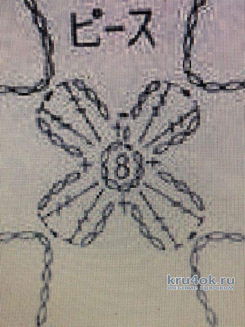 Ажурный кардиган Осень крючком. Работа Надежды Борисовой вязание и схемы вязания
