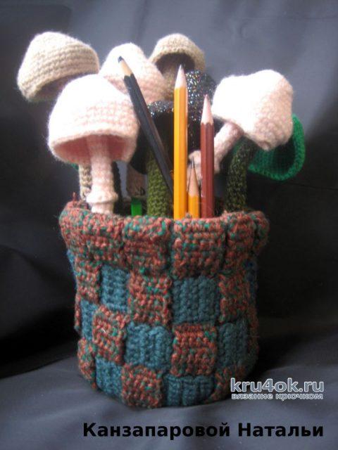 Как связать грибы крючком. Описание от Канзапаровой Натальи вязание и схемы вязания