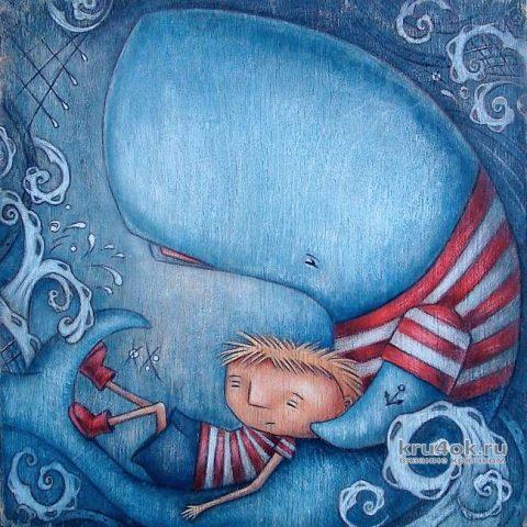 Как связать плюшевого кита крючком. Работа Канзапаровой Натальи вязание и схемы вязания