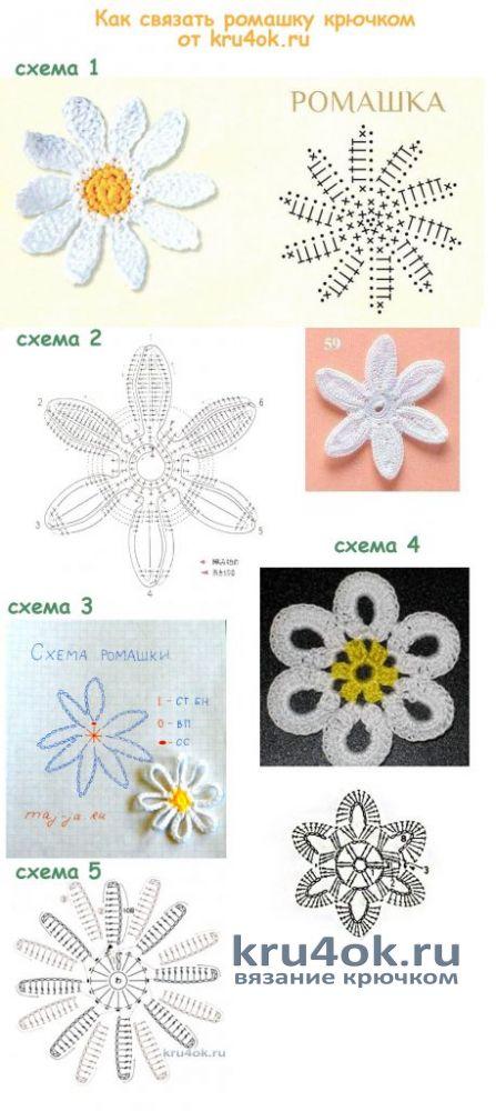 Кофточка Полевые цветы. Работа Евгении Руденко вязание и схемы вязания