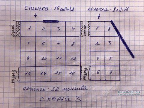 Легкий ажурный кардиган из квадратных мотивов. Работа Надежды Борисовой вязание и схемы вязания