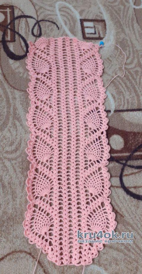 Простой ажурный шарф крючком. Работа Альбины Ваниной вязание и схемы вязания