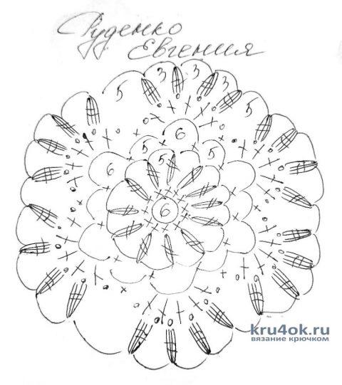 Вязанное крючком платье Сияние. Работа Евгении Руденко вязание и схемы вязания