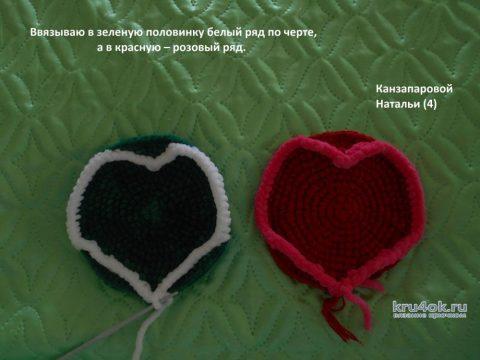 Как связать сувенирчик - арбуз крючком. Описание от Канзапаровой Натальи вязание и схемы вязания