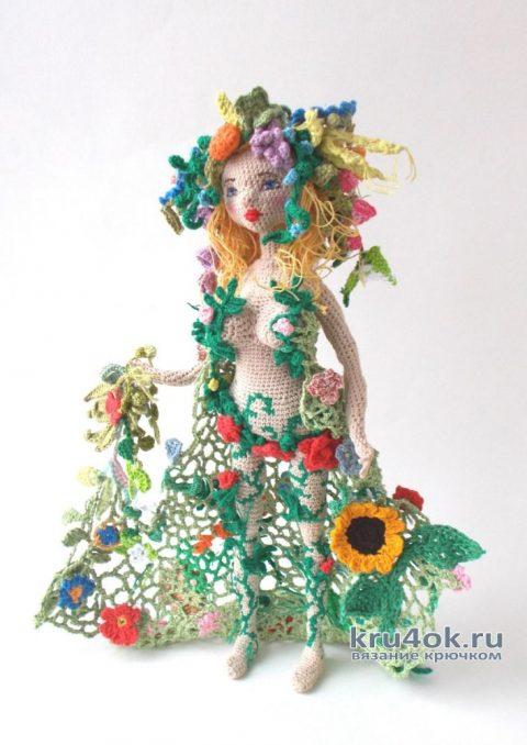 Кукла Флора, связанная крючком. Работа Людмилы Алексеевой вязание и схемы вязания