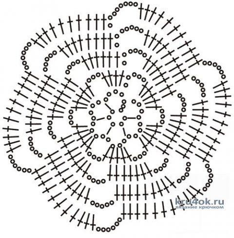 Летняя кофточка крючком. Работа Валентины вязание и схемы вязания