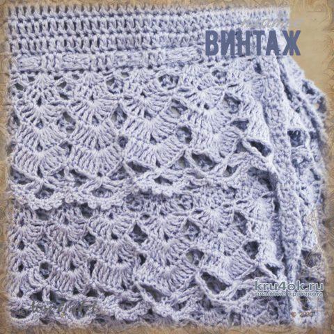 Платье Винтаж, связанное крючком. Работа Alise Crochet вязание и схемы вязания