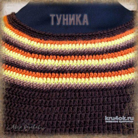 Женская туника крючком. Работа Alise Crochet вязание и схемы вязания
