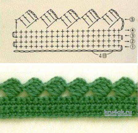 Женская туника крючком. Работа Валентины Литвиновой вязание и схемы вязания