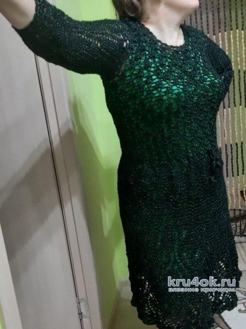 Женское платье крючком. Работа Еленка Обычные дела
