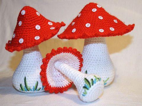 Идеи из интернет, какие грибы можно связать крючком